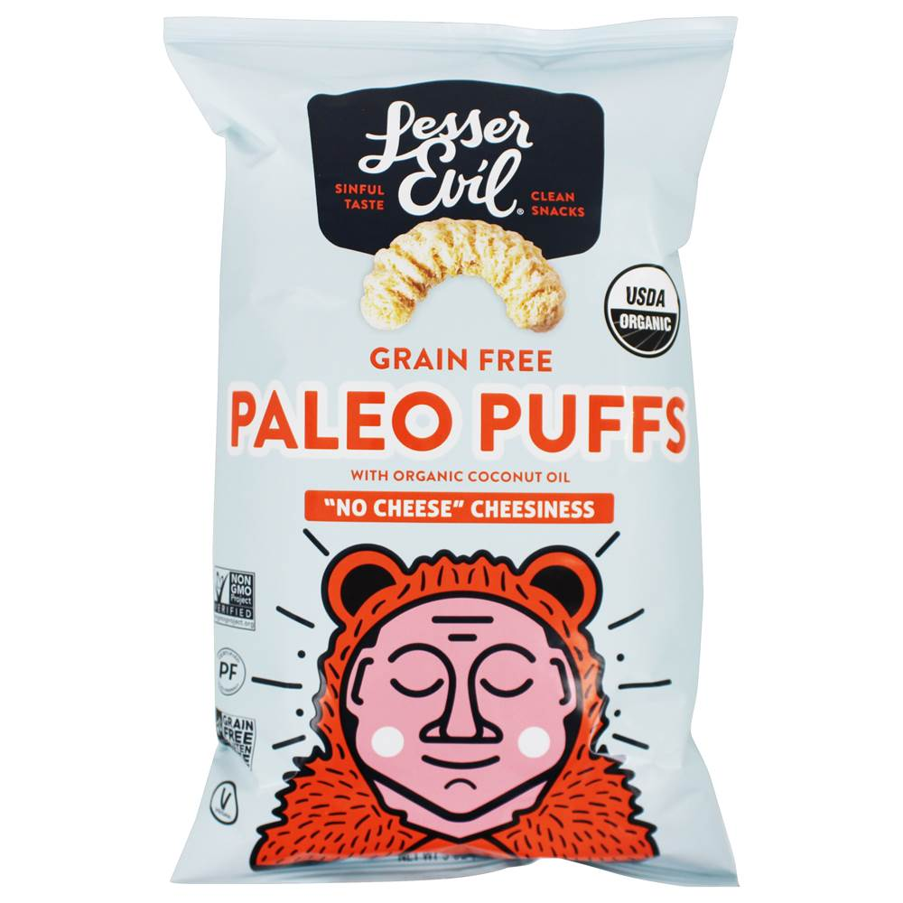 Organic Paleo Puffs No Cheese Cheesiness - 5 oz. by Lesser Evil