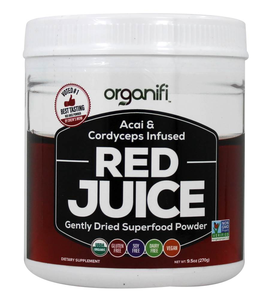 Red Juice Acai & Cordyceps Infused Gently Dried Superfood Powder - 9.5 oz.