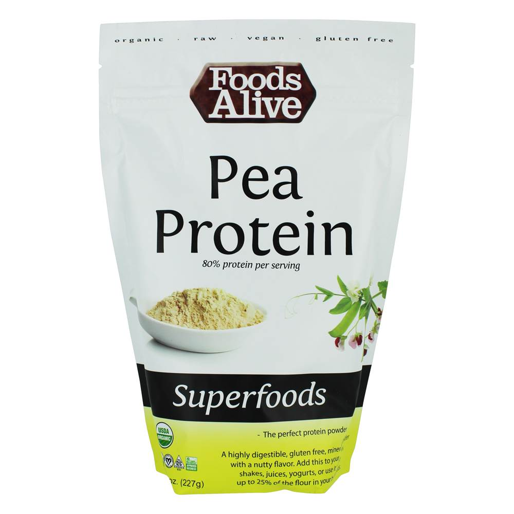 Organic Raw Pea Protein Superfoods - 8 oz. by Foods Alive