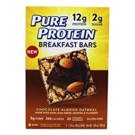 Gluten Free Breakfast Bars Chocolate Almond Oatmeal - 4 Bars by Pure Protein
