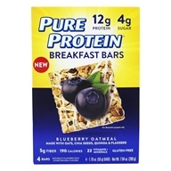 Gluten Free Breakfast Bars Blueberry Oatmeal - 4 Bars by Pure Protein