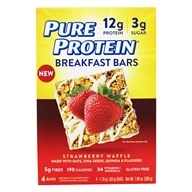 Gluten Free Breakfast Bars Strawberry Waffle - 4 Bars by Pure Protein