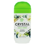 Crystal Body Deodorant - 24 Hr Invisible Solid Deodorant Stick Vanilla Jasmine - 2.5 oz.