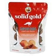 Superfoods Chewy Dog Treats Turkey, Sweet Potato & Cinnamon Recipe - 6 oz. by Solid Gold