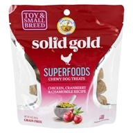 Superfoods Chewy Dog Treats Chicken, Cranberry & Chamomile Recipe - 4 oz. by Solid Gold