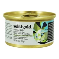 Canned Cat Food Classic Pate Evening Tide Tuna & Sardine in Gravy - 3 oz. by Solid Gold