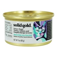 Canned Cat Food Savory Feast Turkey, Giblets & Pumpkin Recipe in Gravy - 3 oz. by Solid Gold