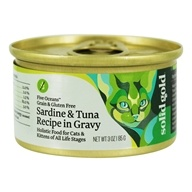 Canned Cat Food Five Oceans Sardine & Tuna Recipe in Gravy - 3 oz. by Solid Gold