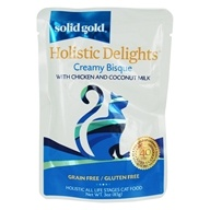 Holistic Delights Wet Cat Food Creamy Bisque with Chicken & Coconut Milk - 3 oz. by Solid Gold