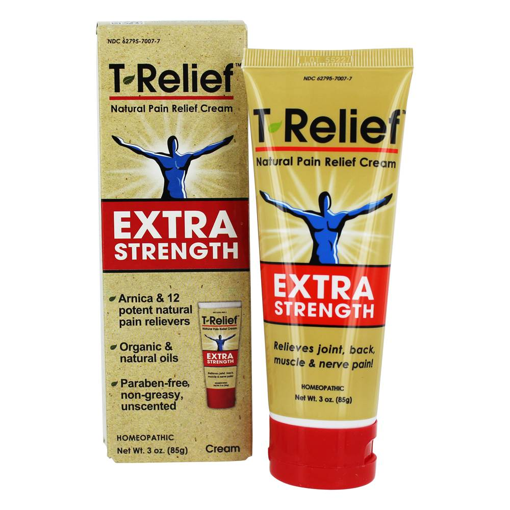 T-Relief Extra Strength Natural Pain Relief Cream Unscented - 3 oz.