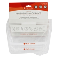 ZipTuck Reusable Snack Bags Clear - 2 Count by Full Circle
