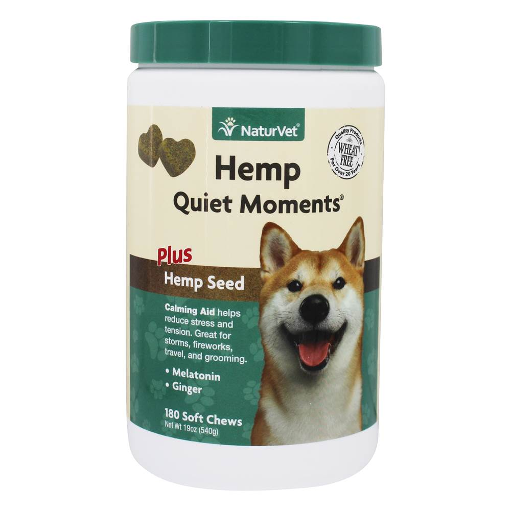 NaturVet - Hemp Quiet Moments For Dogs Plus Hemp Seed - 180 Soft Chews