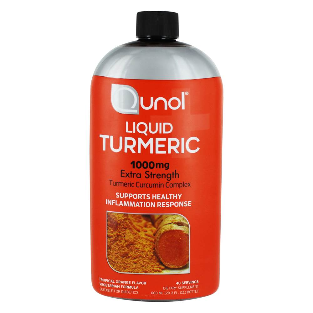 Liquid Turmeric Curcumin Complex Extra Strength Tropical Orange 1000 mg. - 600 ml.