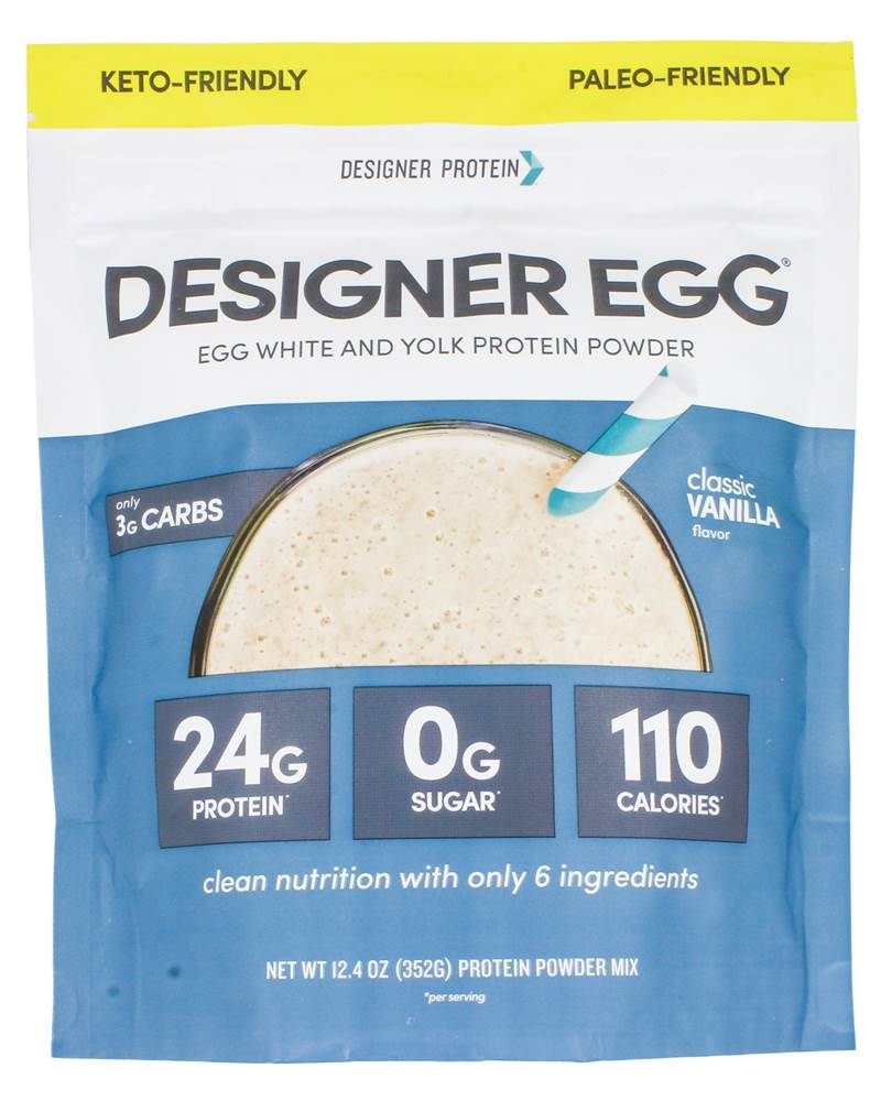 Totally Egg Egg Yolk + White Protein Powder Classic Vanilla - 12.4 oz.