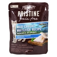 Pristine Grain Free Wet Cat Food Morsels in Gravy Whitefish Recipe - 3 oz.