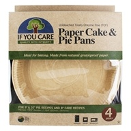 Unbleached Totally Chlorine Free Paper Cake & Pie Baking Pans - 4 Pans by If You Care
