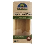 Unbleached Totally Chlorine Free Paper Loaf Baking Pans - 4 Pans by If You Care