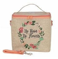 Insulated Large Cooler Bag No Rain No Flowers by SoYoung