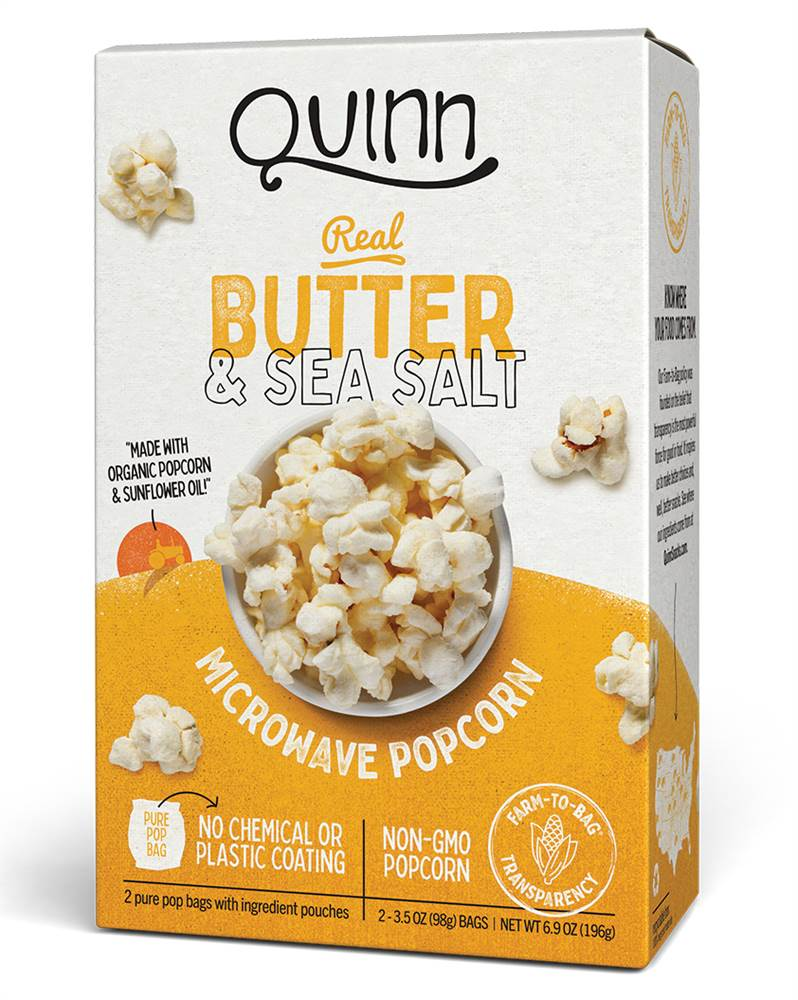 Microwave Popcorn Real Butter & Sea Salt - 2 Bags