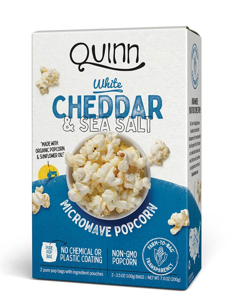 Microwave Popcorn White Cheddar & Sea Salt - 2 Bags