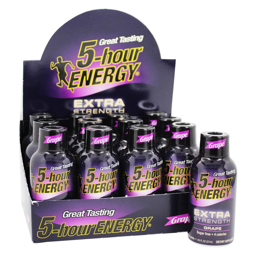 Energy Shot Extra Strength Box Grape - 12 Bottle(s)