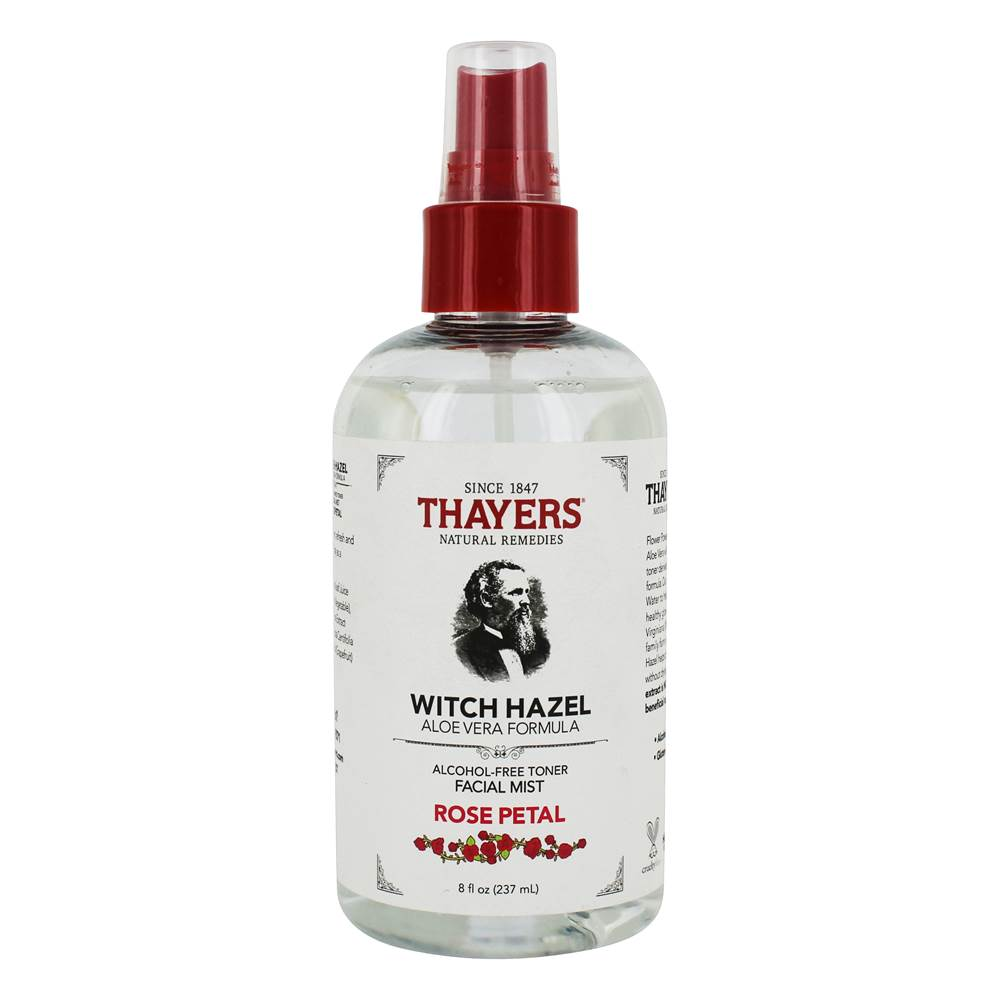 Witch Hazel Alcohol-Free Facial Mist Toner with Aloe Vera Formula Rose Petal - 8 fl. oz.