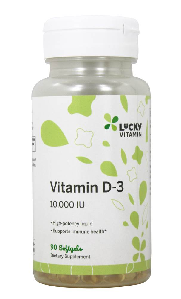 Vitamin D3 10000 IE - 90 Softgels by LuckyVitamin