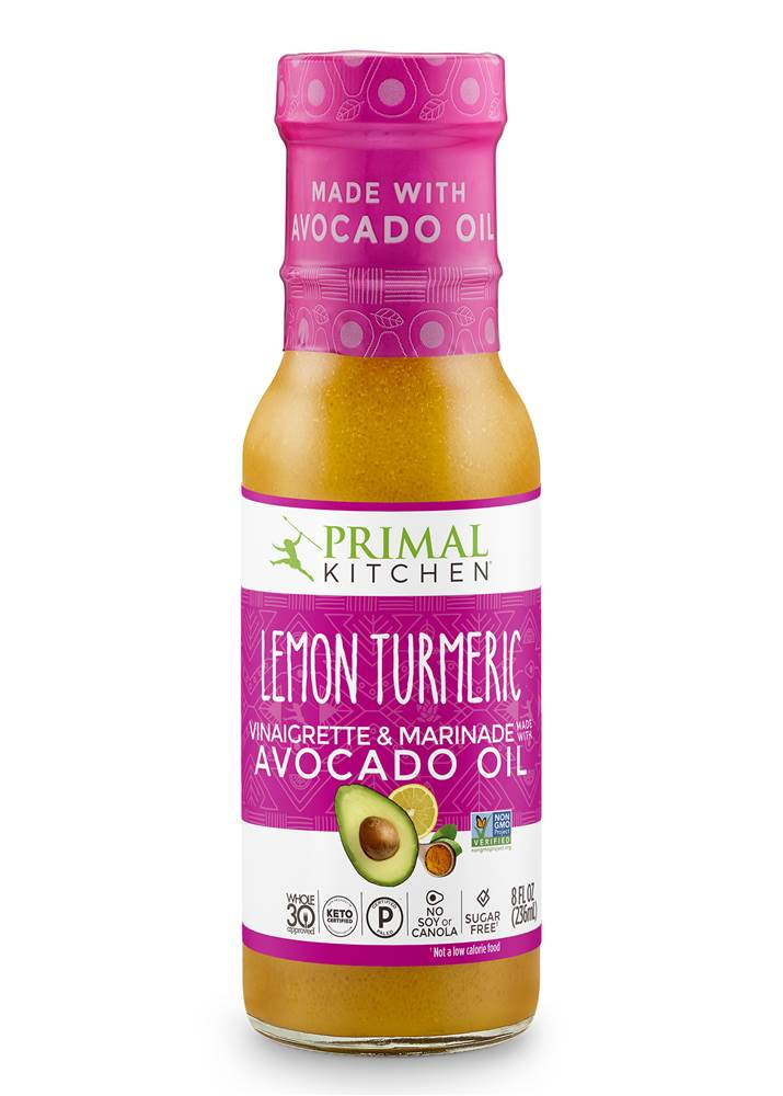 Vinagrete de Óleo de Abacate & Marinade Lemon Turmeric - 8 fl. oz. by Primal Kitchen