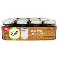 Smooth Sided Regular Mouth Half Pint Mason Jars 8 oz. - 12 Count