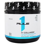 R1 Collagen Hydrolyzed Collagen Peptides Powder 50 Servings Unflavored - 500 Grams