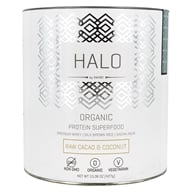 Halo Organic Protein Superfood Powder Raw Cacao & Coconut - 15.06 oz. by Swhey