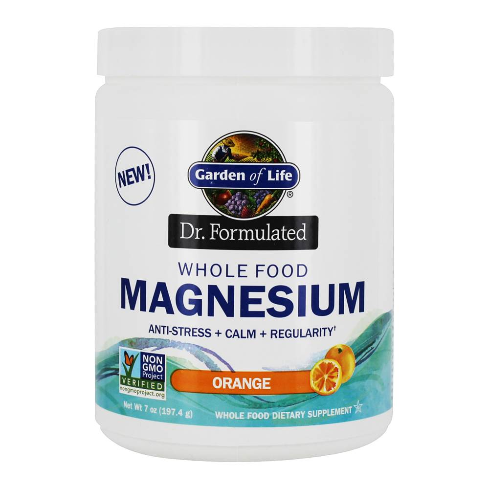 Dr. Formulated Whole Food Magnesium Drink Powder Orange - 7 oz. by Garden of Life