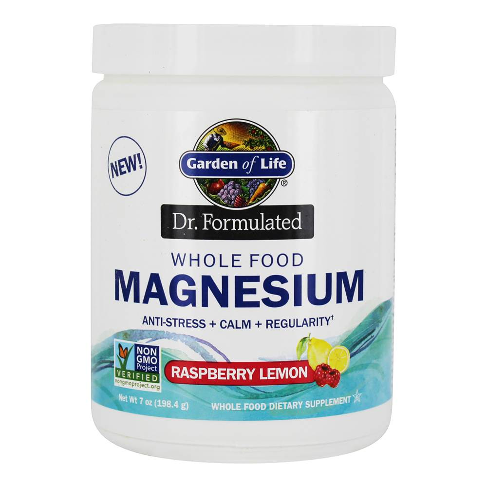 Dr. Formulated Whole Food Magnesium Drink Powder Raspberry Lemon - 7 oz. by Garden of Life