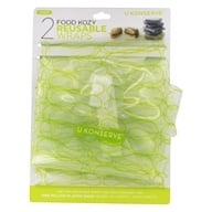 Food Cozy Reusable Wraps Large Clear Lime - 2 Pack by U Konserve