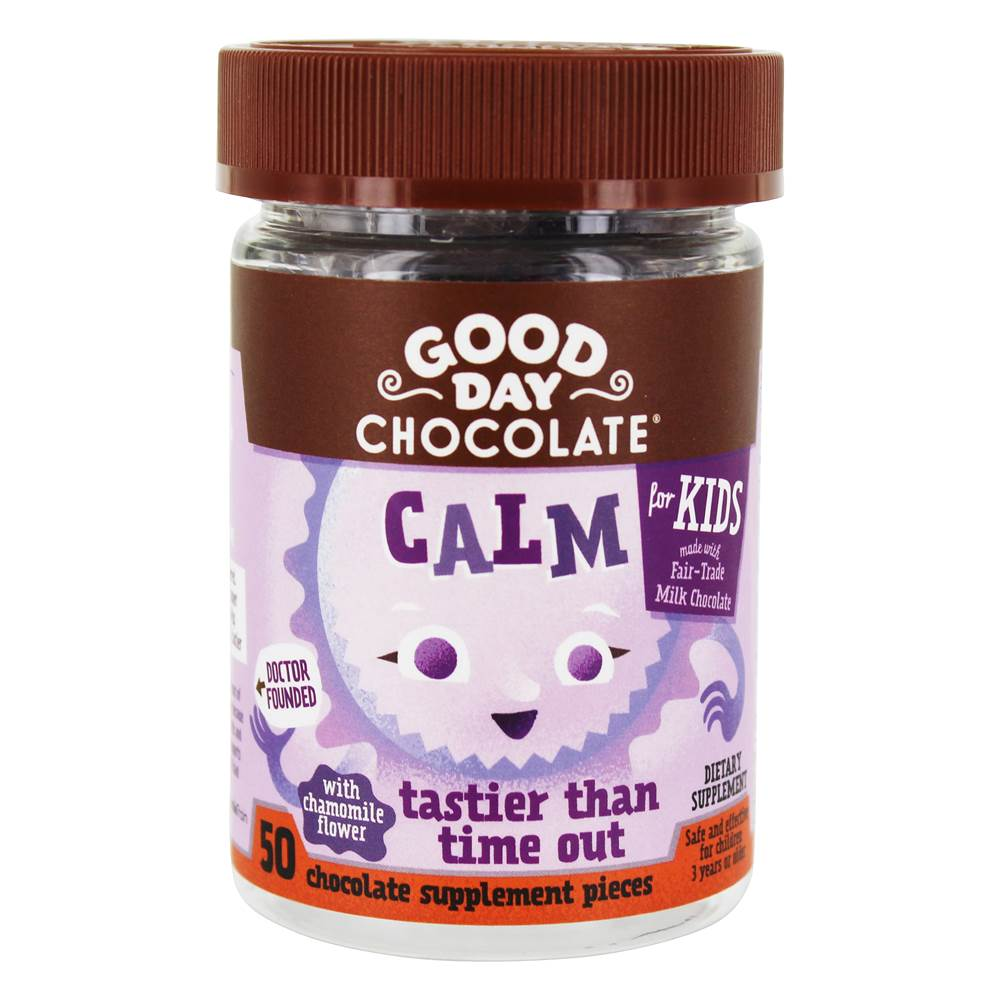 Calm for Kids chocoladesupplement - 50 Piece(s) by Good Day Chocolate
