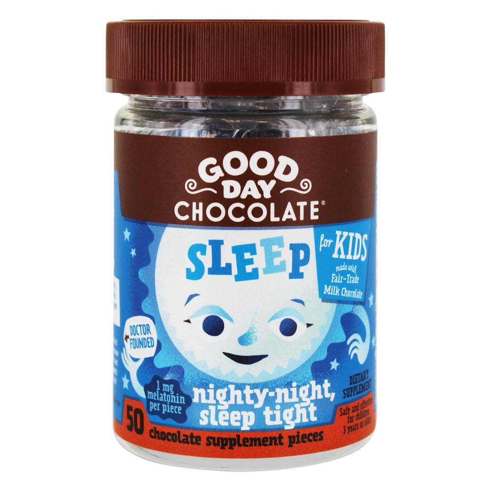 Sleep for Kids chocoladesupplement - 50 Piece(s) by Good Day Chocolate
