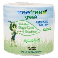 Tree Free Sugar Cane & Bamboo Ultra Soft One Ply Bath Tissue - 1 Roll(s)