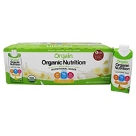Organic Ready to Drink Nutritional Shake Bananas & Cream - 12 Pack by Orgain