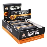 Bone Broth Superfood Protein Bars Box Peanut Butter Chocolate Chip - 12 Bars