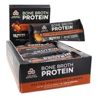 Bone Broth Superfood Protein Bars Box Salted Chocolate Almond - 12 Bary