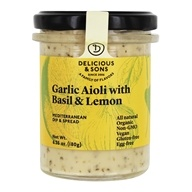 Garlic Aioli with Basil & Lemon - 6.35 oz.