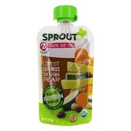 Organic Baby Food Stage 2 6+ Months Carrot, Chickpeas, Zucchini & Pear - 3.5 oz. by Sprout