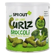 Organic Curlz Baked Toddler Snacks Broccoli - 1.48 oz. by Sprout
