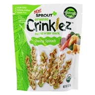 Organic Crinklez Popped Veggie Snack Cheesy Spinach - 1.5 oz. by Sprout