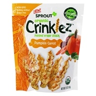 Organic Crinklez Popped Veggie Snack Pumpkin Carrot - 1.5 oz. by Sprout