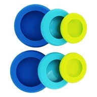 Silicone Small Hugs Reusable Fruit & Veggie Savers Blue - 6 Piece(s)