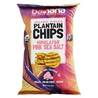 Organic Ridged Plantain Chips Himalayan Pink Sea Salt - 5 oz. by Barnana