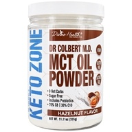 Keto Zone MCT Oil Powder Hazelnut do Dr. Colbert - 11.11 oz.