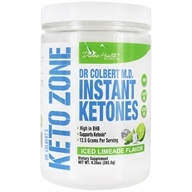 Dr. Colbert's Keto Zone Instant Ketones Powder Iced Limeade - 9.26 oz. by Divine Health