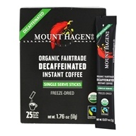 Organic Fairtrade Instant Coffee Freeze Dried Decaffeinated - 25 Stick(s)